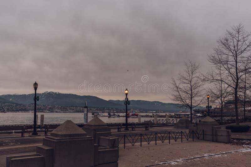 Vancouver, Brits Colombia/Canada - December 24 2017: Steenkool harb stock afbeeldingen