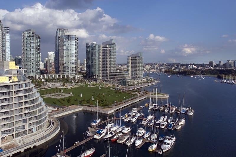 Vancouver céntrica imagen de archivo libre de regalías