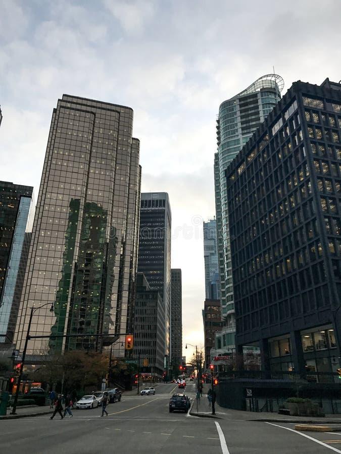 Vancouver céntrica, Columbia Británica fotografía de archivo