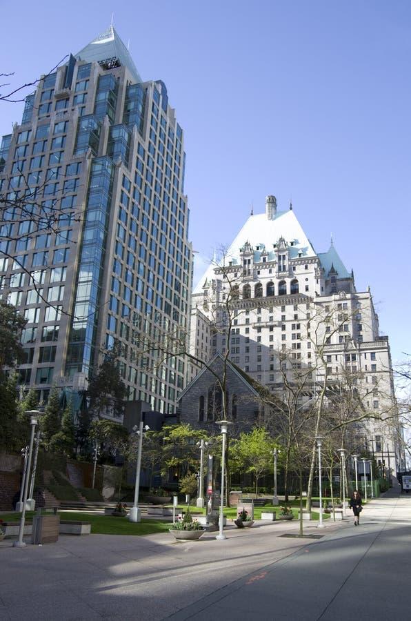 Vancouver céntrica constructiva moderna imagenes de archivo
