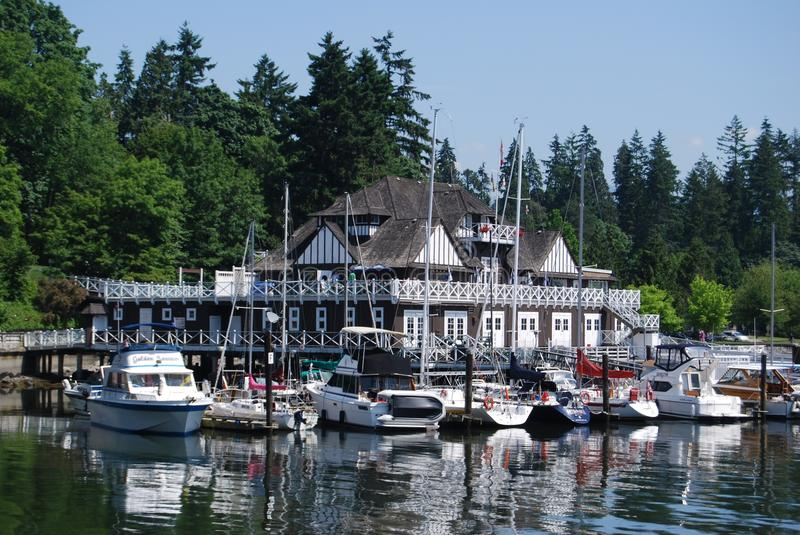Stanley Park Clubhouse at Vancouver Waterfornt stock photo