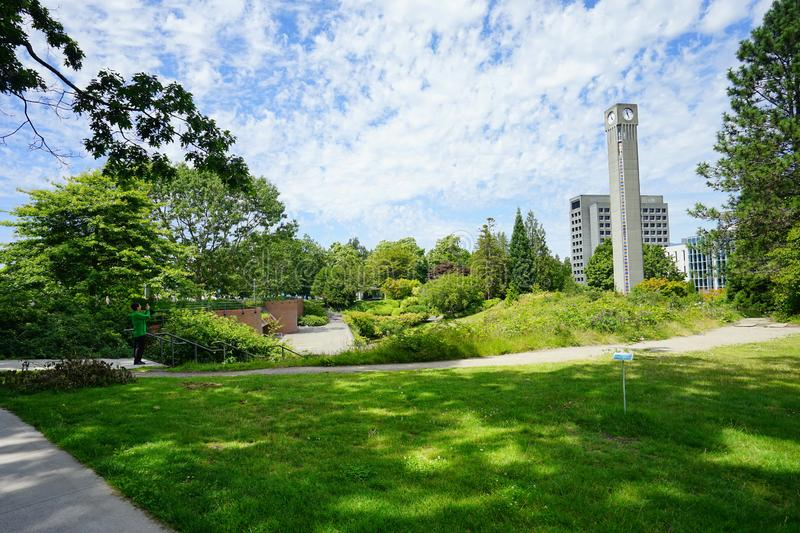 University of British Columbia UBC. VANCOUVER, CA -Located on a beautiful peninsula at Point Grey, the University of British Columbia UBC is a major public royalty free stock photos