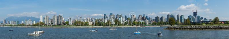 Vancouver, Canadá - circa 2018: Vancouver céntrica, panorama del West End fotografía de archivo libre de regalías