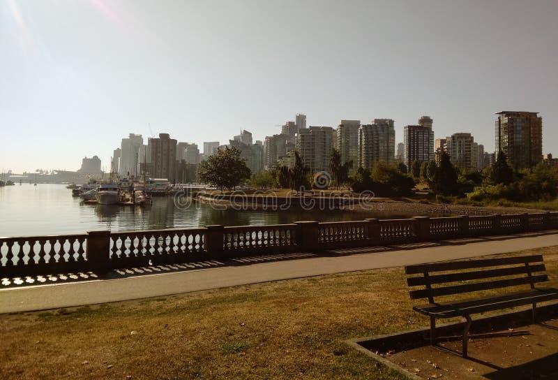 Vancouver, Canadá - 2018 Foto de la ciudad de Vancouver, una del viaje de las ciudades principales de Canadá fotografía de archivo libre de regalías