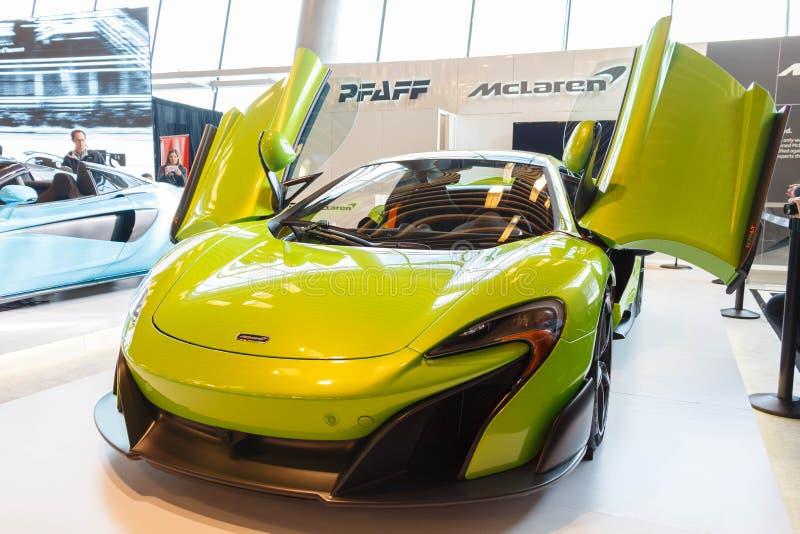 Vancouver, Canadá - marzo de 2018: LT de McLaren 675 fotografía de archivo libre de regalías