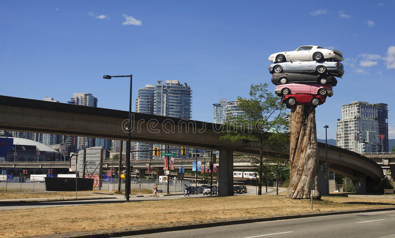 VANCOUVER, CANADA - AUGUST 27, 2016: Trans Am Totem on 27 August royalty free stock image