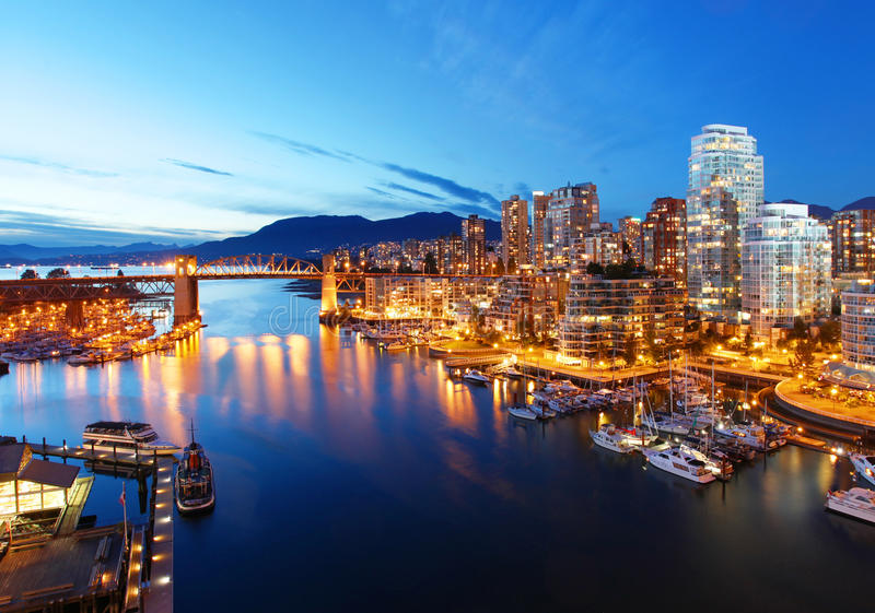 Vancouver in Canada royalty free stock images
