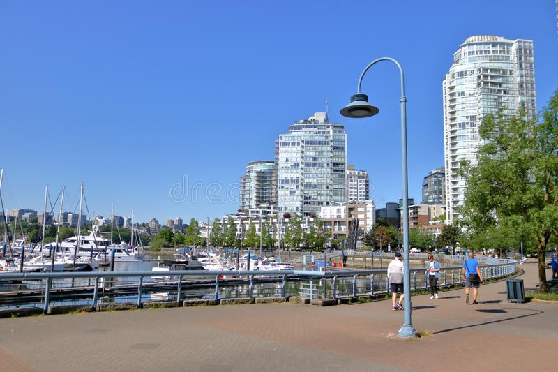 Vancouver, Canada et digue du centre photo libre de droits