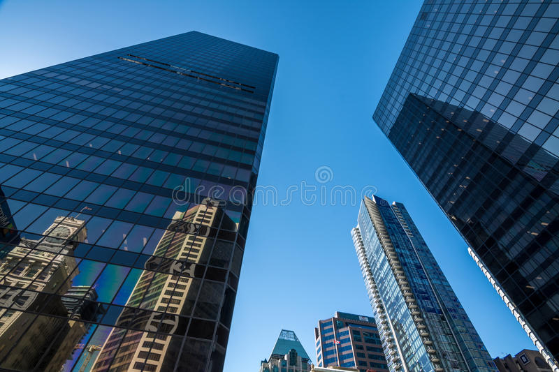 Vancouver, Canada - June 20, 2017: High rises in Vancouver`s dow. Ntown on a sunny day stock images