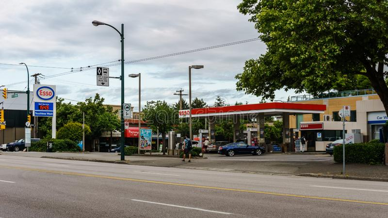 VANCOUVER, CANADA - June 6, 2018: Stree View West Broadway in Vancouver British Columbia stock image