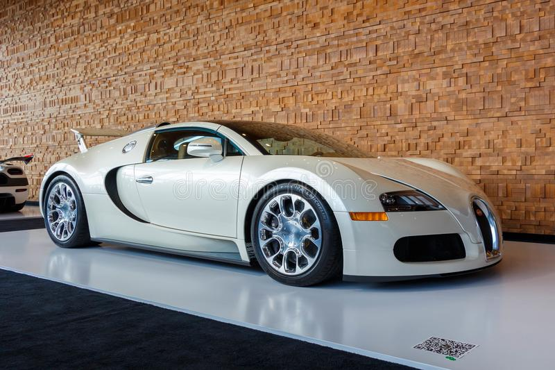Vancouver, Canada - March 2018 : Bugatti Veyron Roadster, taken at 2018 Vancouver International Auto Show. Vancouver, Canada - March 2018 Bugatti Veyron Roadster royalty free stock photography