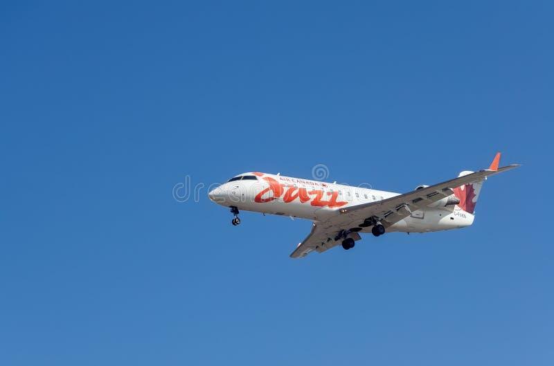 Avions de jazz d'Air Canada image stock