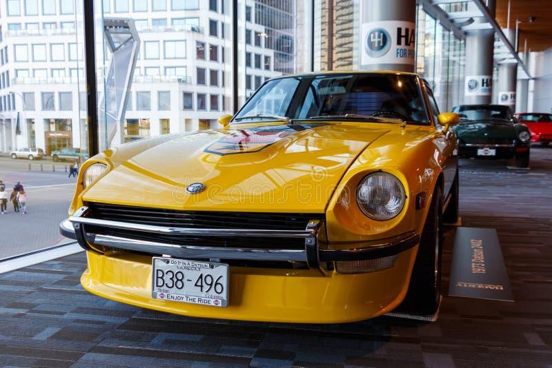 Vancouver, Canada - mars 2019 : Datsun 1973 240z, pris au salon de l'Auto 2019 de Vancouver photo libre de droits
