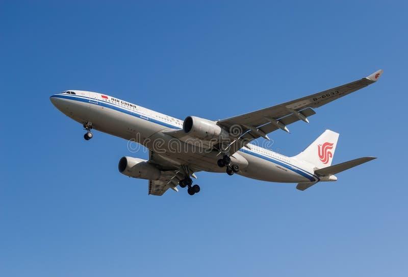 Aerei di Air China fotografia stock libera da diritti