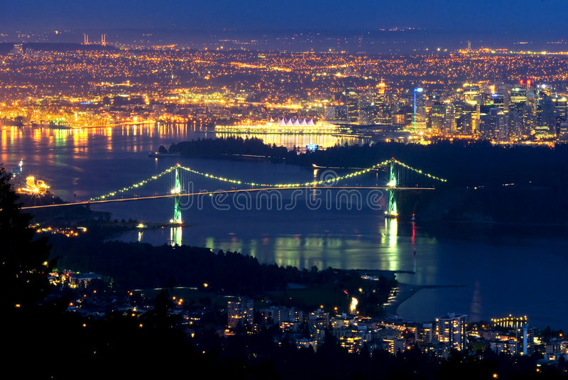 Download Vancouver, Canada at night stock photo. Image of pacific - 5775420