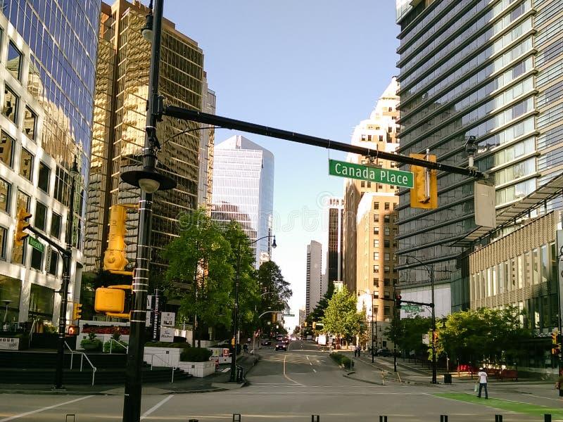 Vancouver, Canada - 2018 Reisfoto van de stad van Vancouver, één van de grote steden van Canada stock afbeeldingen