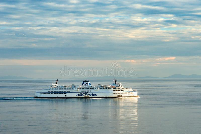 Vancouver, Canada - September 12, 2018: BC Ferry Queen of Cowichan. Vancouver, Canada - September 12, 2018: BC Ferries ship the Queen of Cowichan, sailing royalty free stock photos