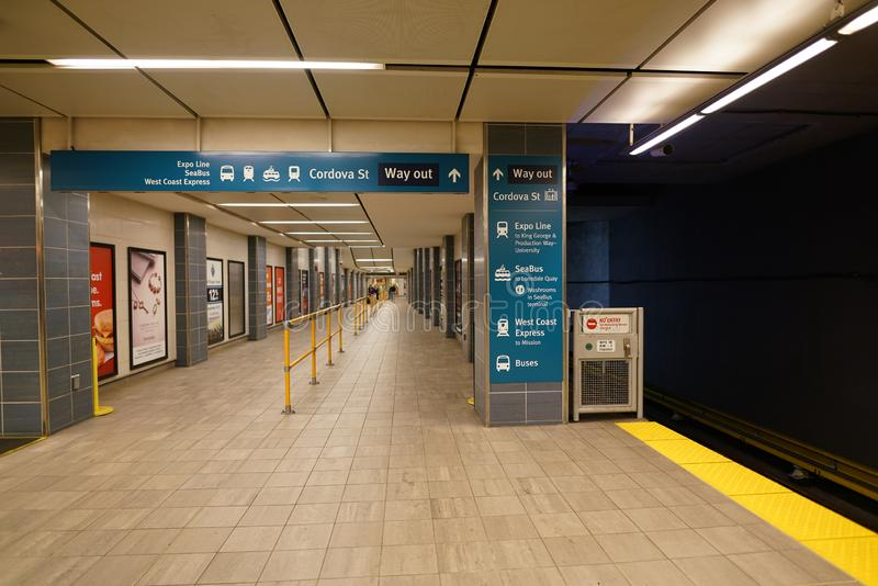 SkyTrain Waterfront station royalty free stock photography