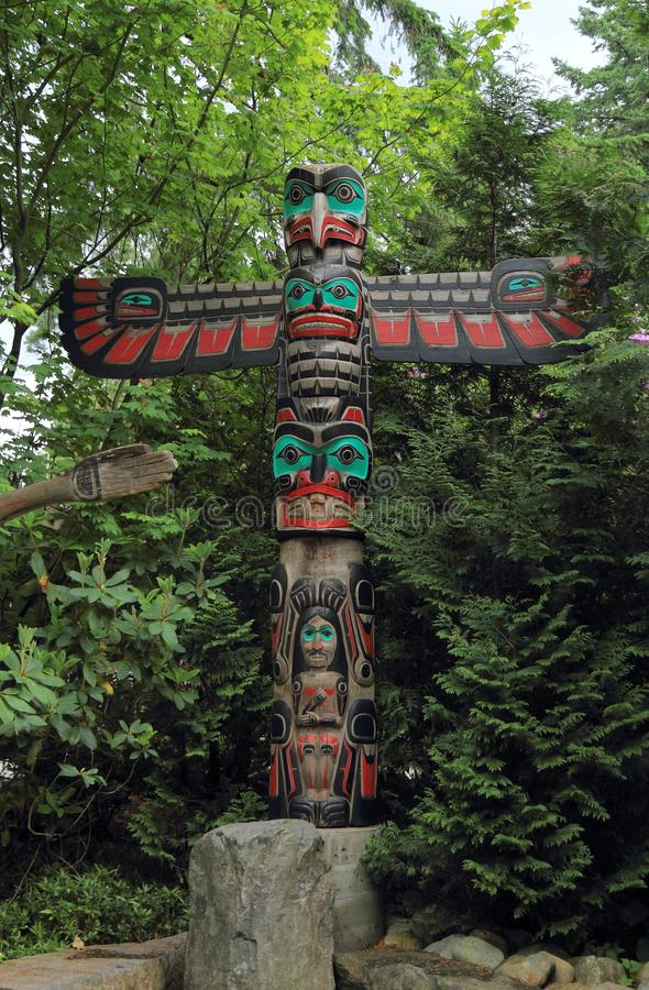 Free Vancouver, Canada: Tourism - Thunderbird Totem Pole In Capilano Suspension Bridge Park Royalty Free Stock Photography - 115908897