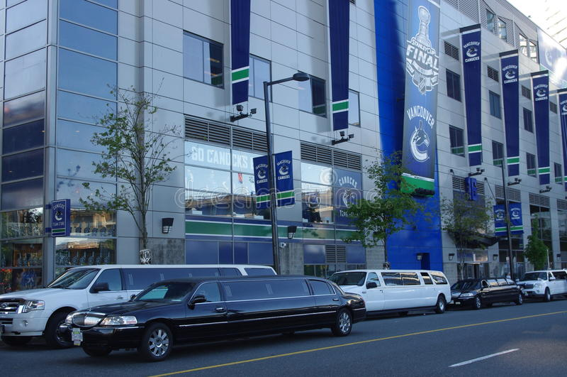 Vancouver Canucks-Spiel lizenzfreies stockbild