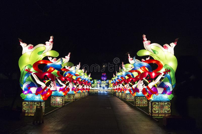 Vancouver Chinese Lantern Festival at the PNE royalty free stock image