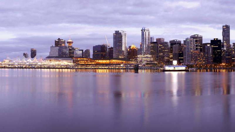 Vancouver City Skyline stock images