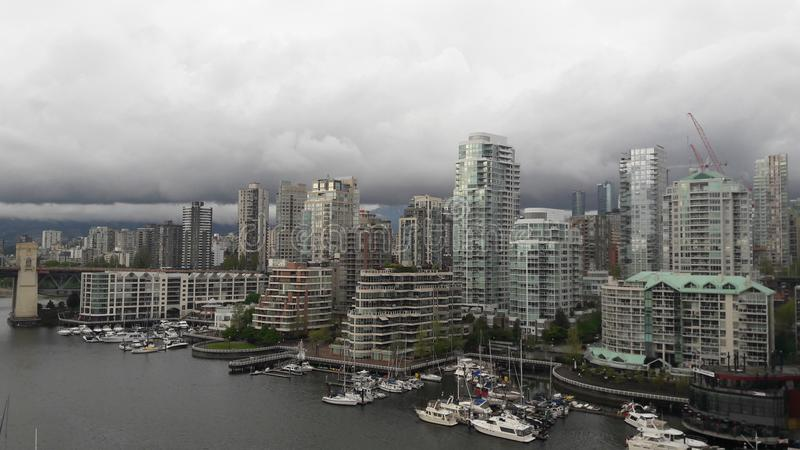 Vancouver cloudy british columbia day royalty free stock photo