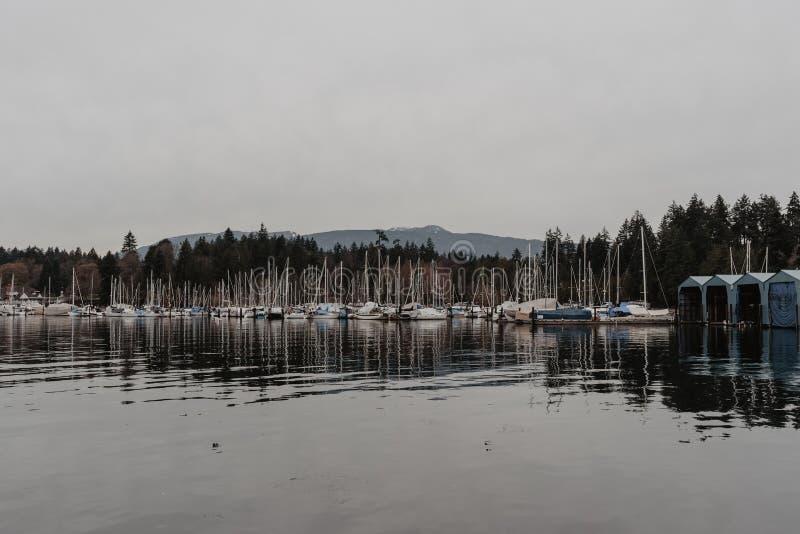 Vancouver, Columbia Britannica/Canada - 24 dicembre 2017: waterfron immagini stock libere da diritti