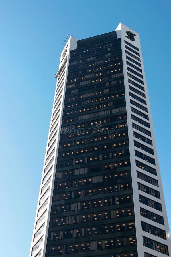 VANCOUVER, COLUMBIA/CANADA BRITANNICO - 14 AGOSTO: Alto aumento offic immagine stock libera da diritti