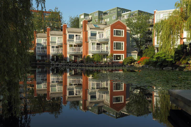 Vancouver Condominium Building Reflection Royalty Free Stock Photo