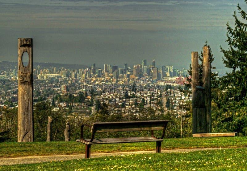 Vancouver da sopra immagini stock