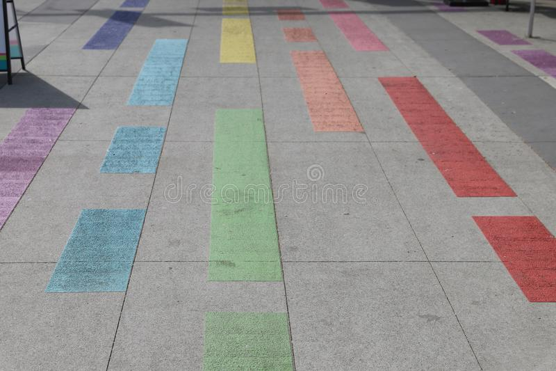 Vancouver Davie Village Rainbow Painted Street image stock