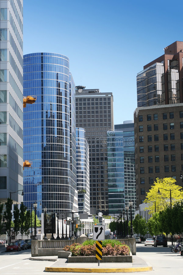 Vancouver de stad in royalty-vrije stock afbeelding
