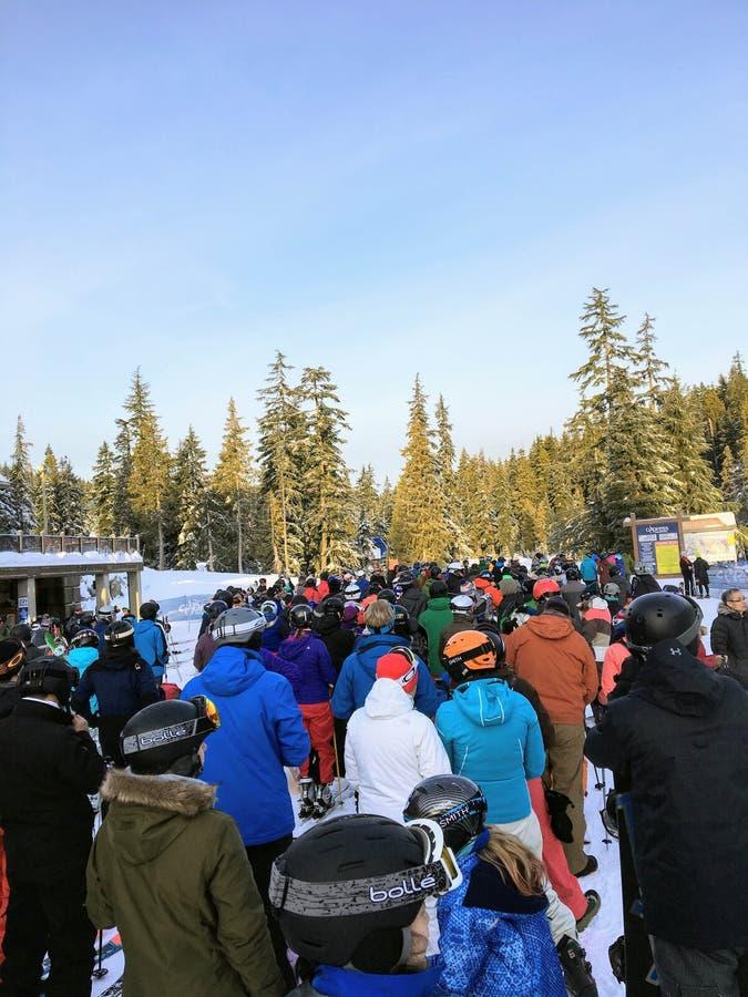 Vancouver del oeste, montaña de Cypress, Canadá - 1 de enero de 2018: A imagen de archivo
