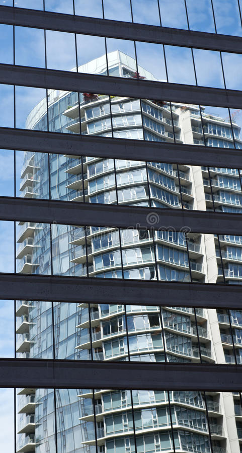 Vancouver downtown marina area royalty free stock photography