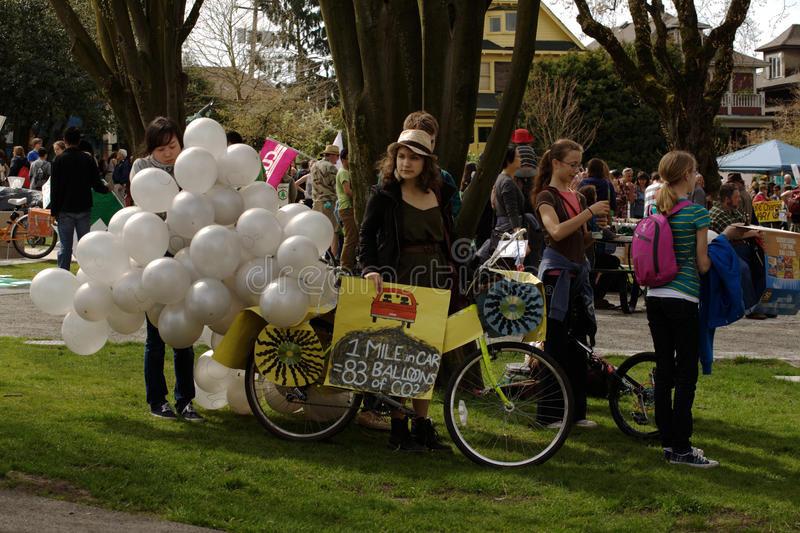 Vancouver Earth Day Rally, stock photo