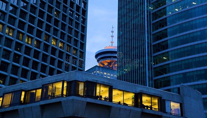 Vancouver En El Amanecer Imagen de archivo