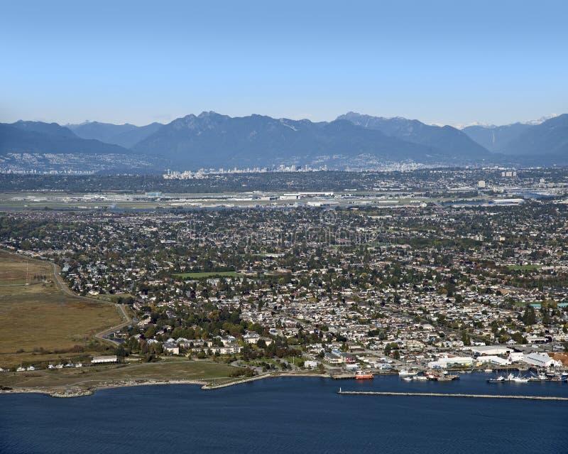 Vancouver en Richmond stock afbeelding