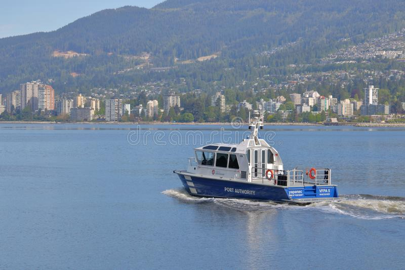 Vancouver Fraser Port Authority Vessel fotografia stock libera da diritti