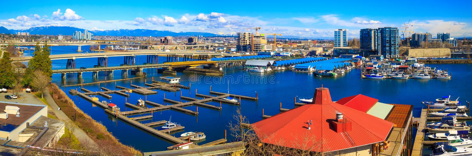 Vancouver Fraser River. Fraser River in Vancouver, British Columbia, Canada stock photo