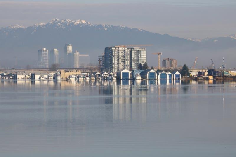 Vancouver Fraser River Frontage fotografia stock