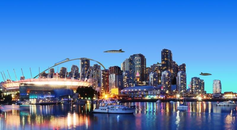 Vancouver futurista Canadá imagen de archivo