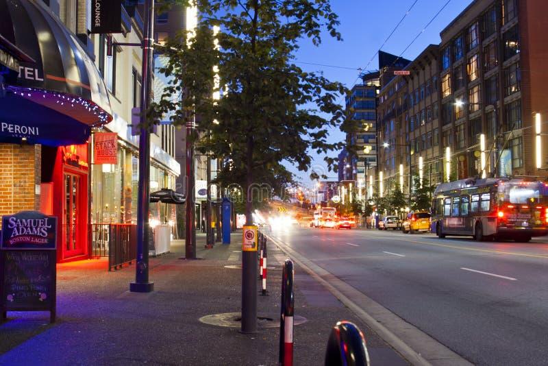 Vancouver gata fotografering för bildbyråer