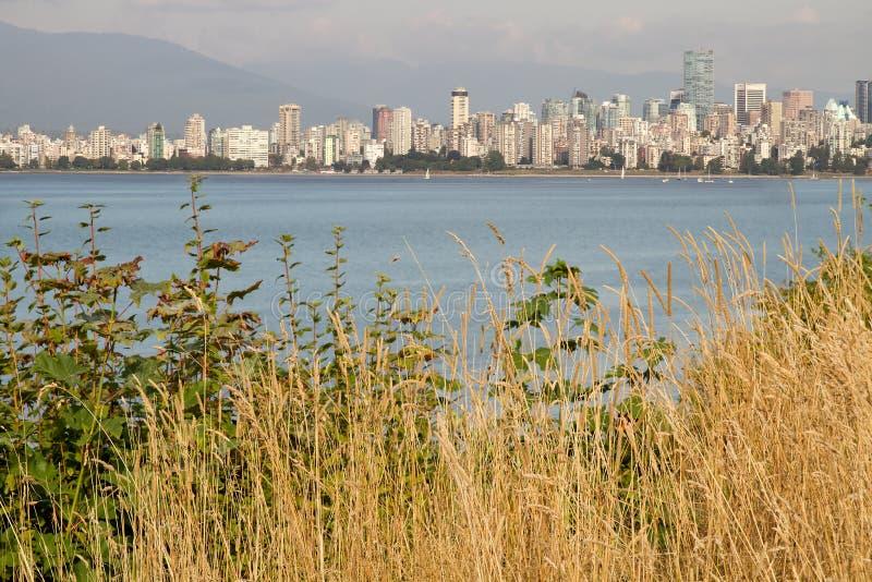 Vancouver hacia el centro de la ciudad de Hasting muele A.C. el parque imágenes de archivo libres de regalías