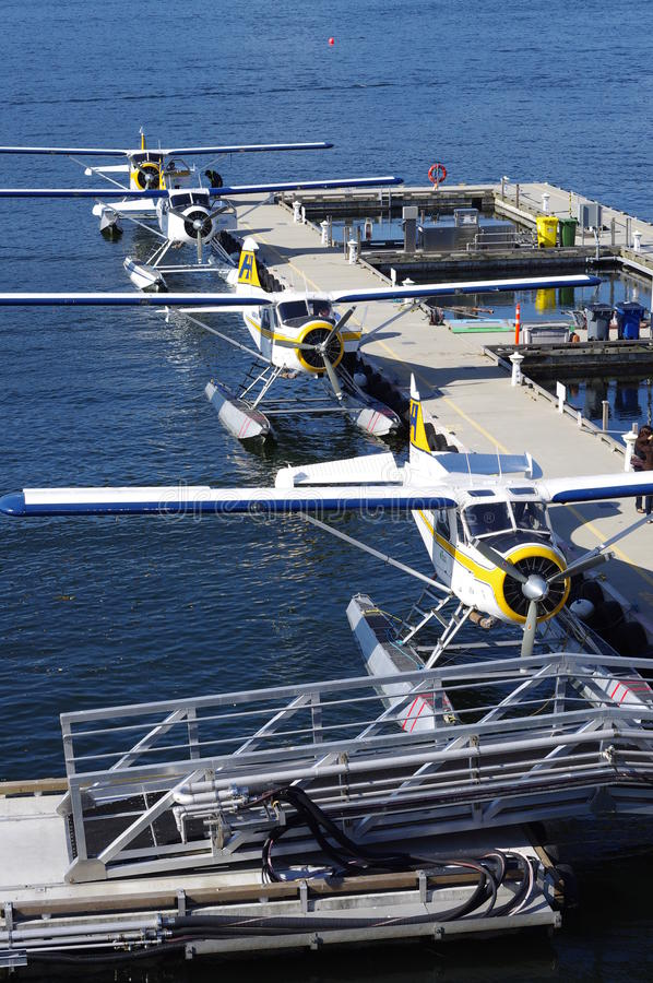 Vancouver-Hafen-Wasser-Flughafen stockbild