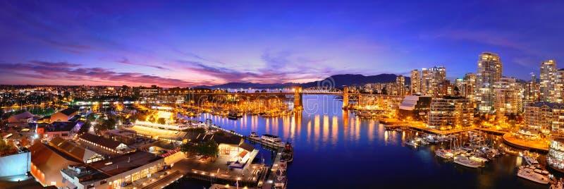 Vancouver hamnsikt arkivfoto