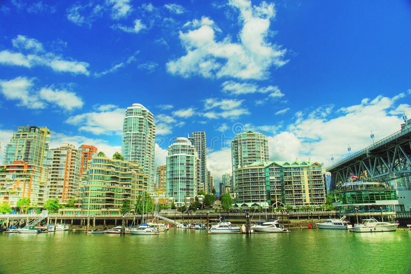 Vancouver HDR fotografie stock