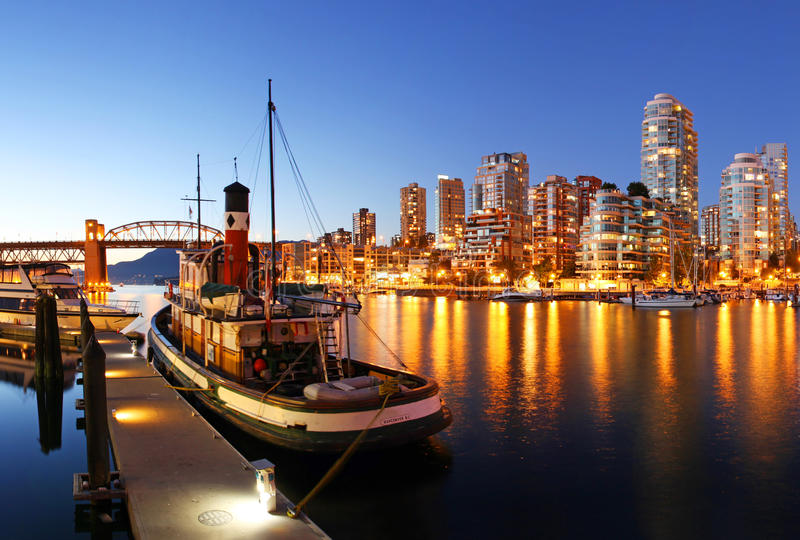 Vancouver i Kanada arkivbilder