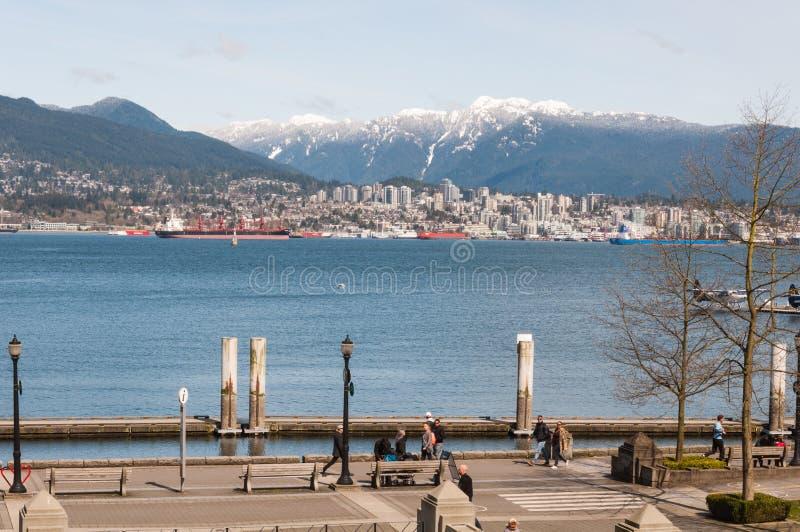 Vancouver im Stadtzentrum gelegen stockfotografie