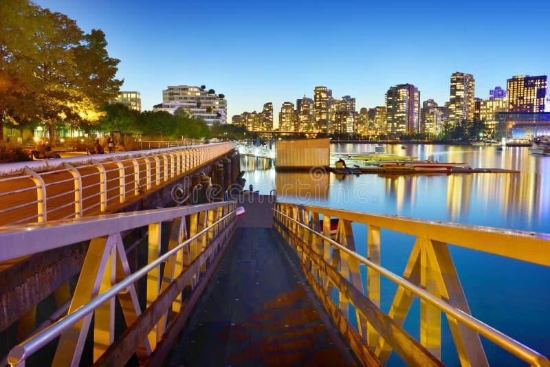 Vancouver im Stadtzentrum gelegen, Kanada lizenzfreies stockbild